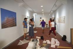 Ausstellungsvorbereitung, Christine Balbach, Dr.Jesus Irsula
