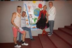 Banner aus dem Projekt DELPHIC ARTWALL, entstanden im Rheingau, Sven Granzin, Dr.Jesus Irsula, Monika Ehrhardt-Lakomy Lakomy und Axel Sperl