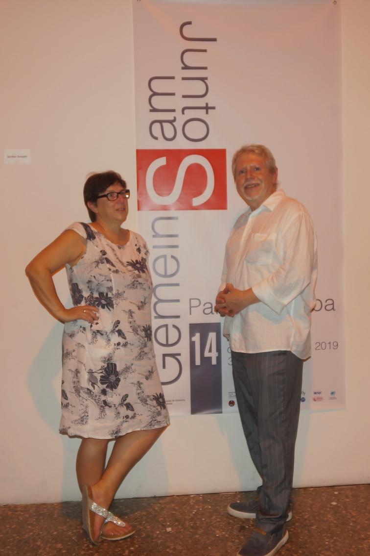 Sabine & Axel Sperl zur Eröffnung des Künstlertreffens und Ausstellung in Havanna 2019